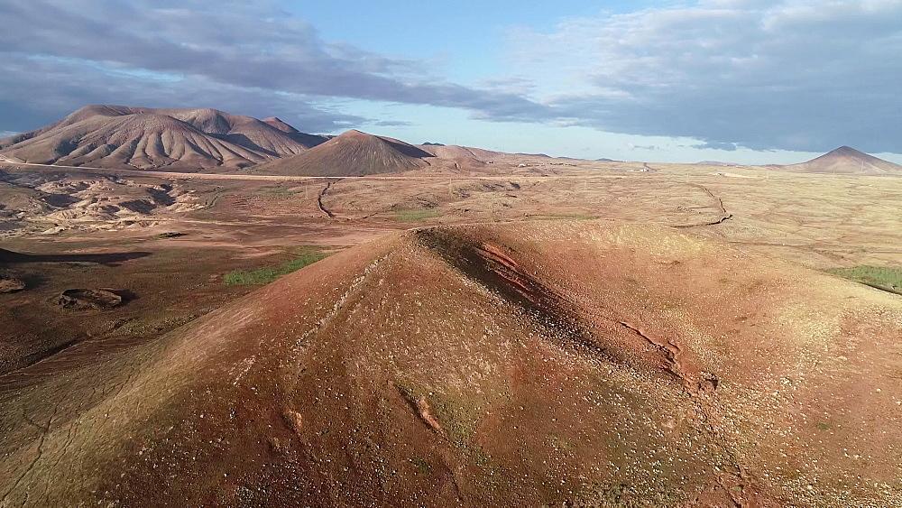 Volcanic landscape at Park Natural de Corralejo, Fuerteventura, Canary Islands, Spain, Atlantic, Europe