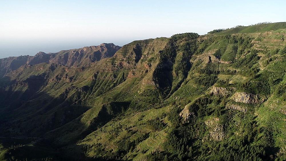 Mountain landscapes near Garajonay National Park, La Gomera, Canary Islands, Spain, Atlantic, Europe