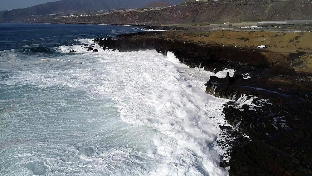 Lighthouse at La Bombilla, UNESCO Biosphere Site, La Palma, Canary Islands, Spain, Atlantic, Europe