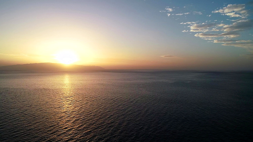 Sunset over the Atlantic Ocean, Canary Islands, Spain, Europe
