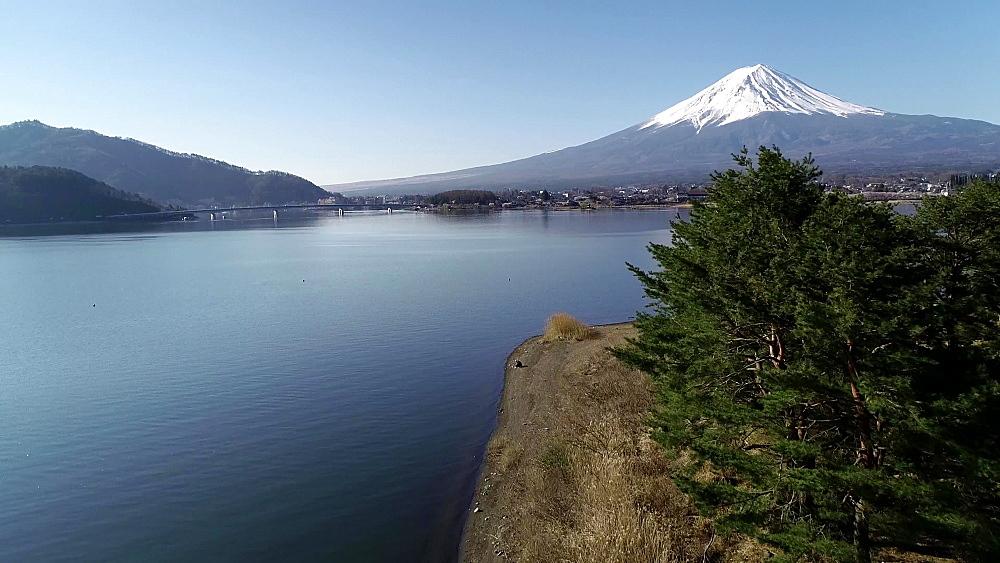 Mount Fuji and Kawaguchiko Lake, Kawaguchiko, Yamanashi Prefecture, Japan, Asia