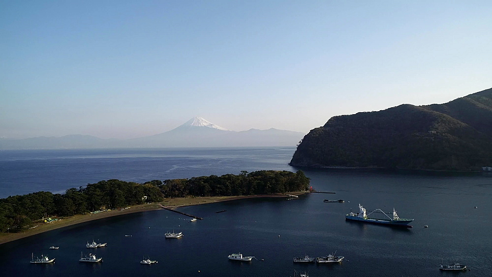 Mount Fuji viewed from Izu Hanto Peninsula, Heda, Shizuoka Prefecture, Honshu, Japan, Asia - 733-8494