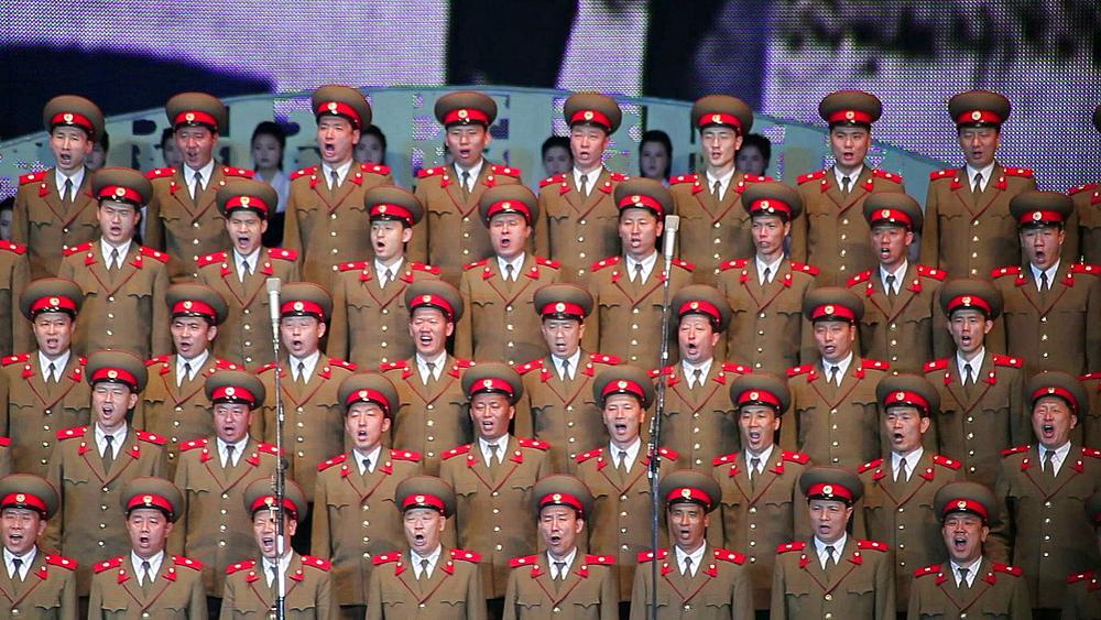 Pyongyang, Army singers performing in the Pyongyang Concert Hall, North Korea, Asia - 794-3114