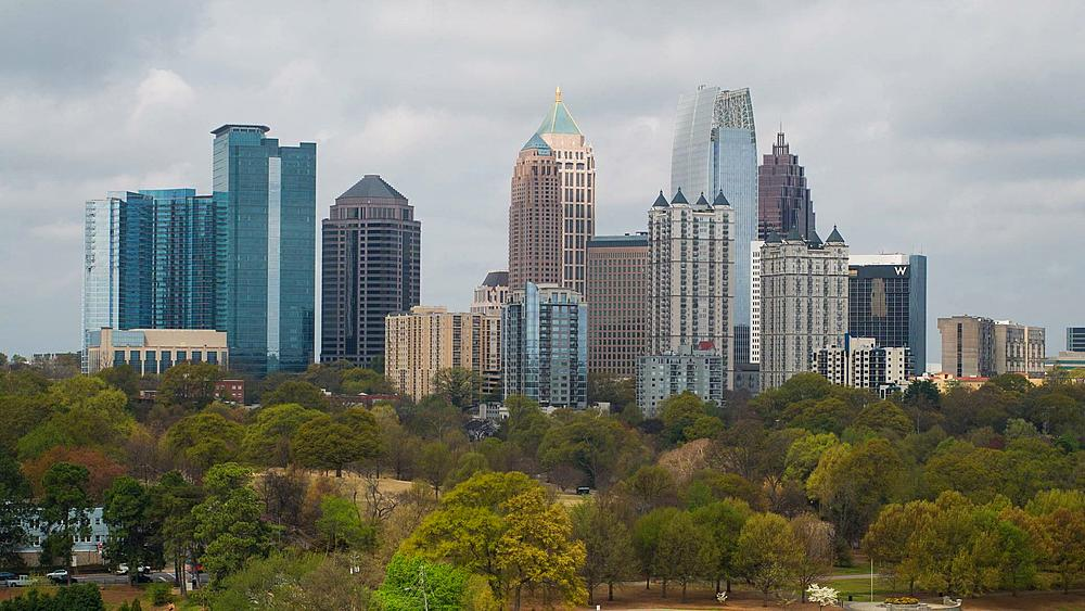 Midtown Skyline from Piedmont Park, Atlanta, Georgia, United States of America - 794-4182