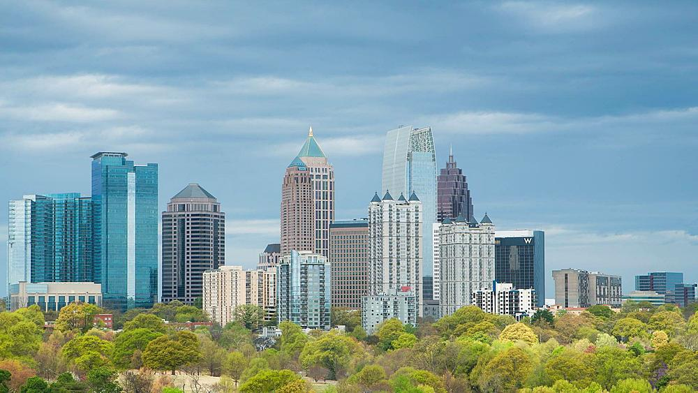 Midtown Skyline from Piedmont Park, Atlanta, Georgia, United States of America