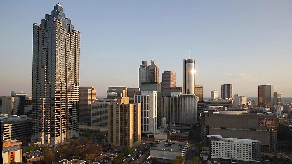 Downtown City Skyline, Atlanta, Georgia, United States of America