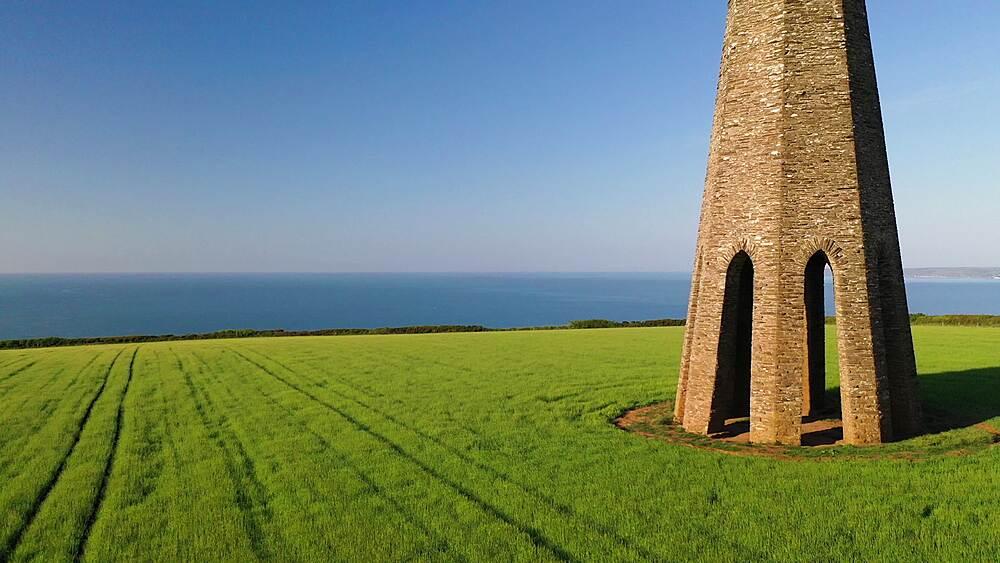 The Daymark, on a sunny morning in farmland near Dartmouth, Devon, England, United Kingdom, Europe - 799-4113