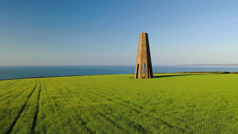 The Daymark, on a sunny morning in farmland near Dartmouth, Devon, England, United Kingdom, Europe