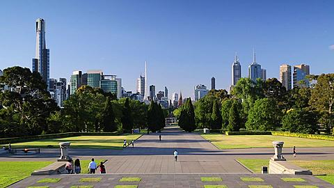 View of skyline from Memorial of Remembrance, Melbourne, Victoria. Australia