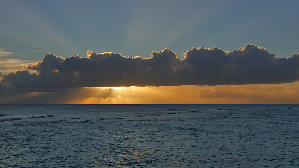 Sunset at St Lawrence Gap, Christ Church, Barbados, West Indies, Caribbean