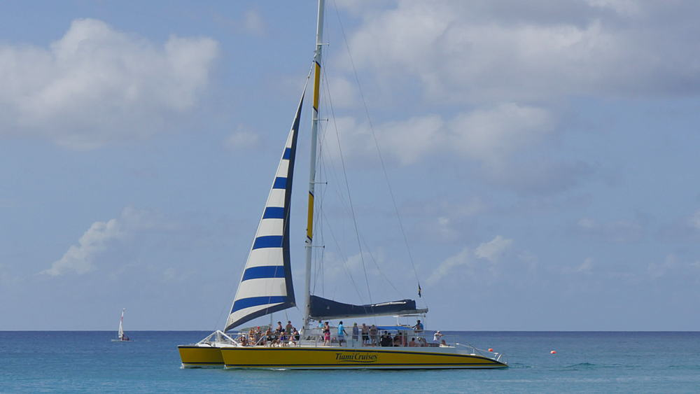 Sailing on the Caribbean Sea, St James, Barbados, West Indies, Caribbean - 844-11041