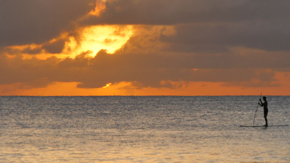 Sandy Lane Beach sunset, St James, Barbados, West Indies, Caribbean