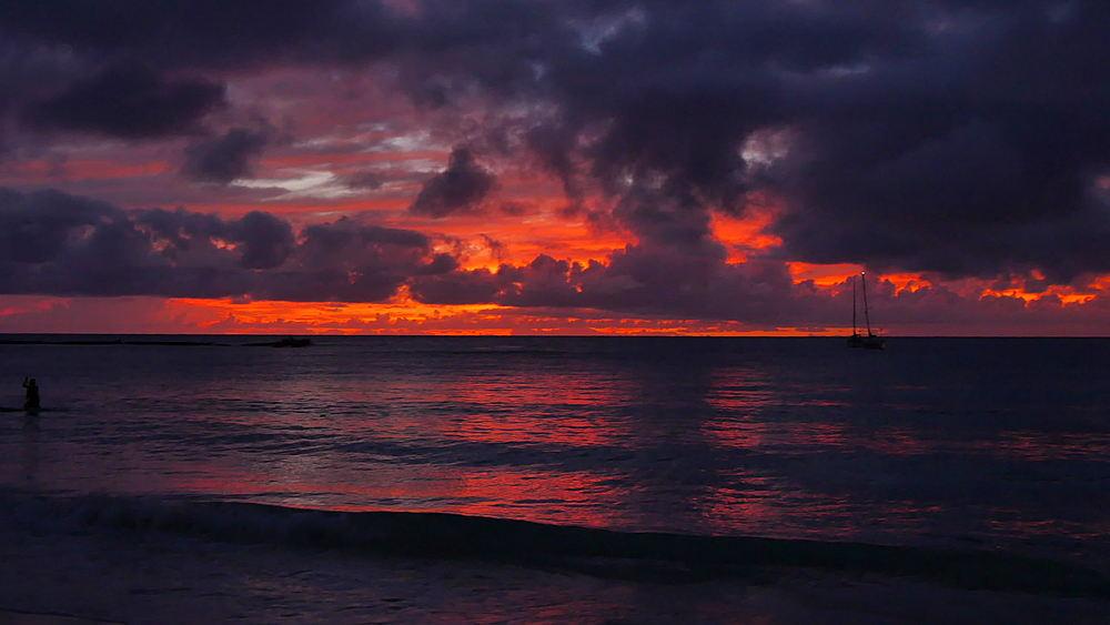 Brownes Beach sunset, Bridgetown, St Michael, Barbados, West Indies, Caribbean - 844-11060