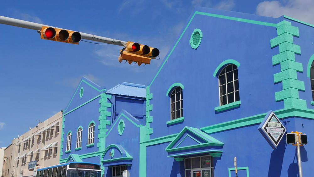 Colourful buildings in Bridgetown, St Michael, Barbados, West Indies, Caribbean - 844-11072