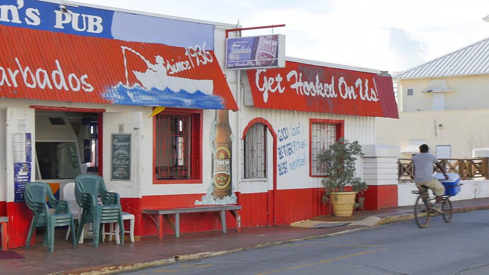 Sand Street in Speightstown, St Peter, Barbados, West Indies, Caribbean - 844-11122