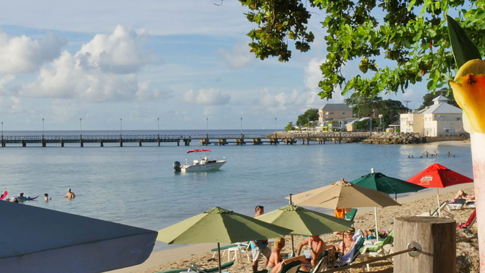 The beach, Speightstown, St Peter, Barbados, West Indies, Caribbean