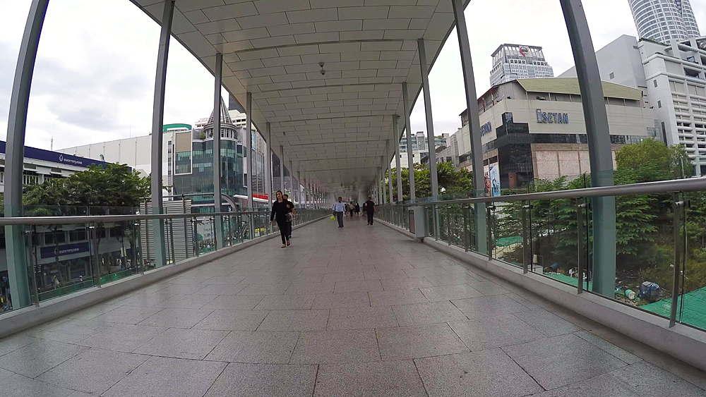 Skywalk on Ratchadamri Road, Bangkok, Thailand, South Asia, Asia