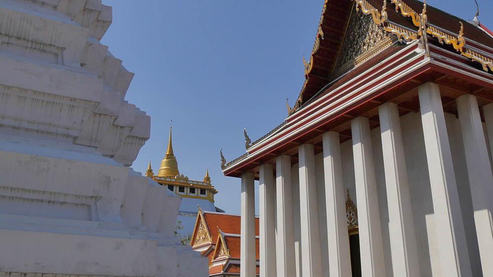 Wat Saket, Golden Mount, Bangkok, Thailand, South Asia, Asia