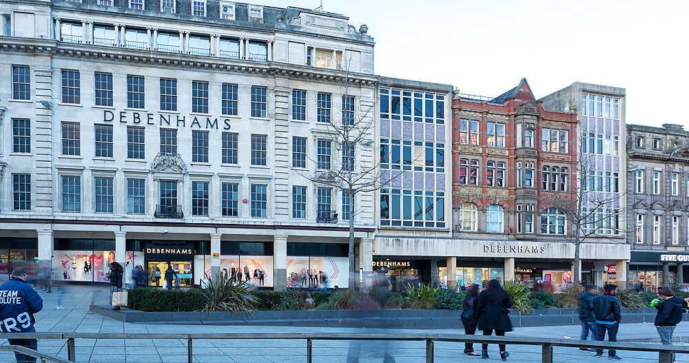 Old Market Square and Ferris Wheel, Nottingham, Nottinghamshire, England, United Kingdom, Europe