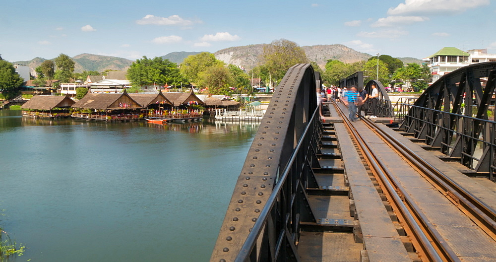Bridge of Death, Bridge over River Kwai, Kanchanaburi, Thailand, South East Asia, Asia