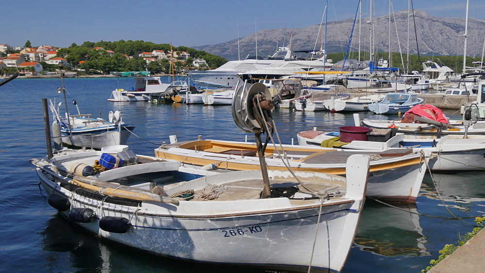 Harbour boats in Lumbarda, Korcula Island, Dalmatia, Croatia, Europe - 844-12064