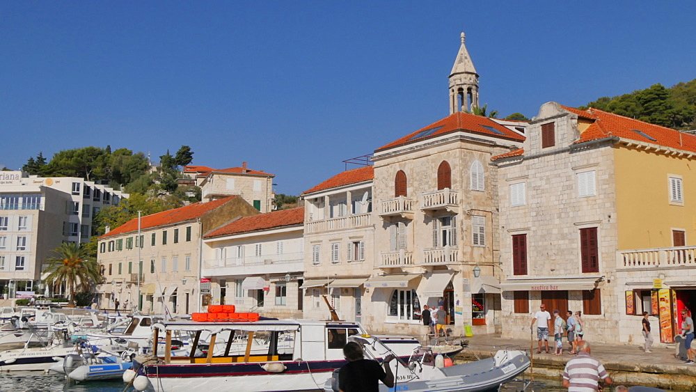 Boats in the Port of Hvar, Hvar, Hvar Island, Dalmatia, Croatia, Europe - 844-12127