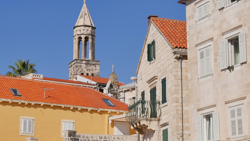 Architecture in the Port of Hvar, Hvar, Hvar Island, Dalmatia, Croatia, Europe - 844-12132