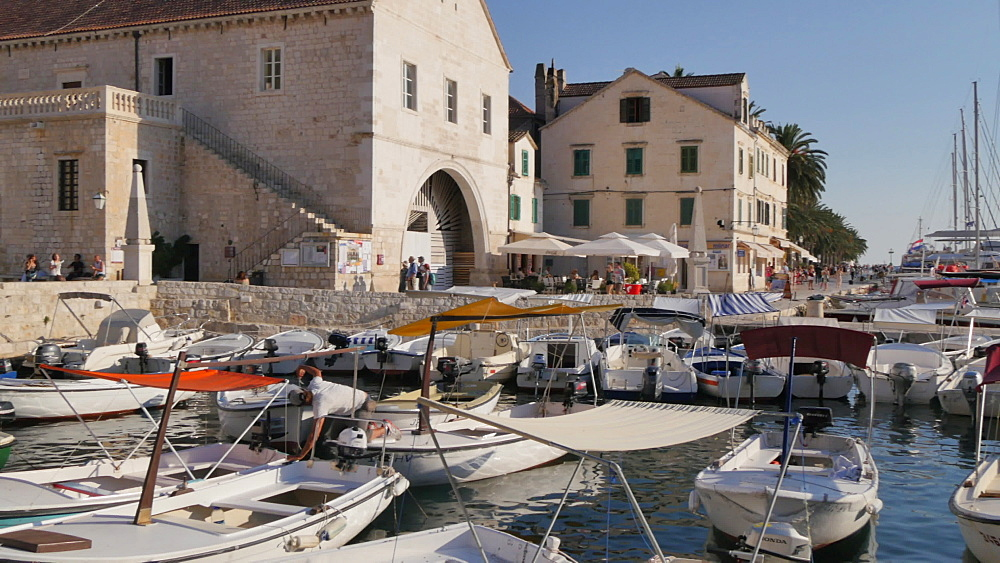 View of the town and harbour of Hvar, Hvar Island, Dalmatia, Croatia, Europe - 844-12175