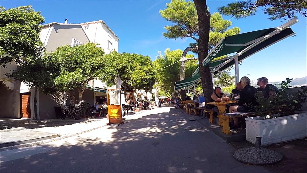 Restaurants in Korcula Old Town, Korcula, Dalmatia, Croatia, Europe