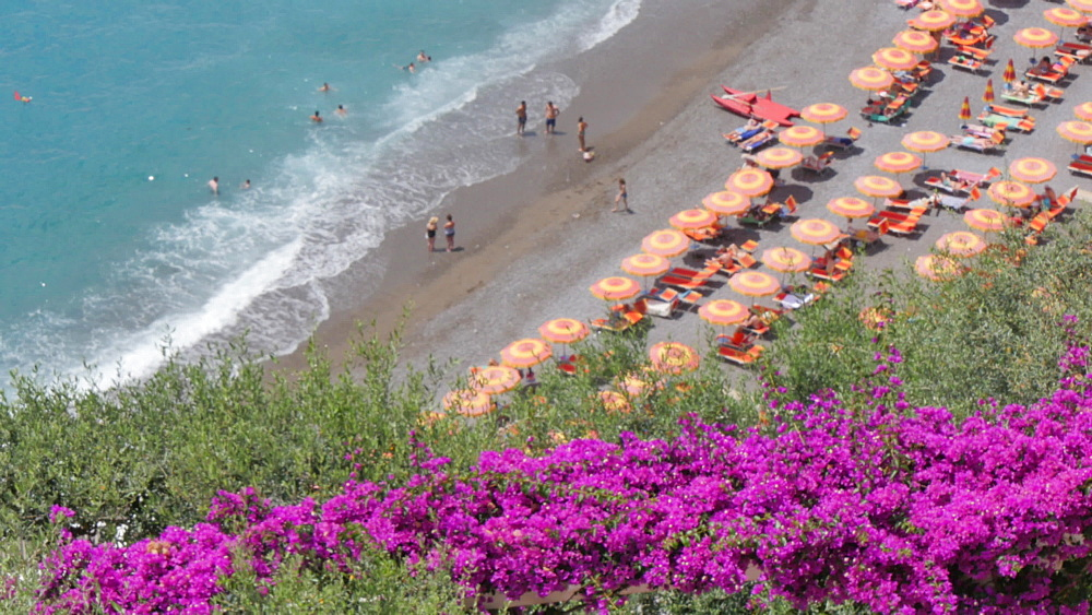 Beach, Costiera Amalfitana (Amalfi Coast), UNESCO World Heritage Site, Province of Salerno, Campania, Italy, Europe