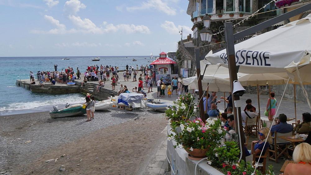 View of Coastline, Costiera Amalfitana (Amalfi Coast), UNESCO World Heritage Site, Province of Salerno, Campania, Italy, Europe