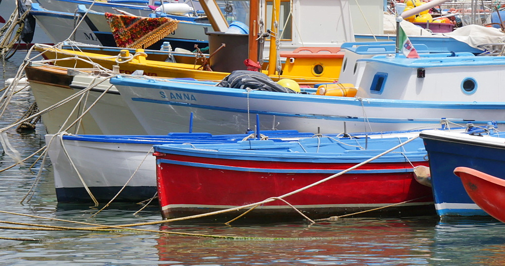 Boats in Marina Grande, Sorrento, Costiera Amalfitana (Amalfi Coast), UNESCO World Heritage Site, Campania, Italy, Europe