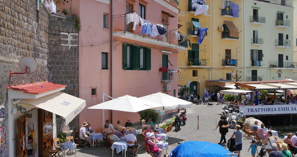 Panoramic view of Marina Grande, Sorrento, Costiera Amalfitana (Amalfi Coast), UNESCO World Heritage Site, Campania, Italy, Europe