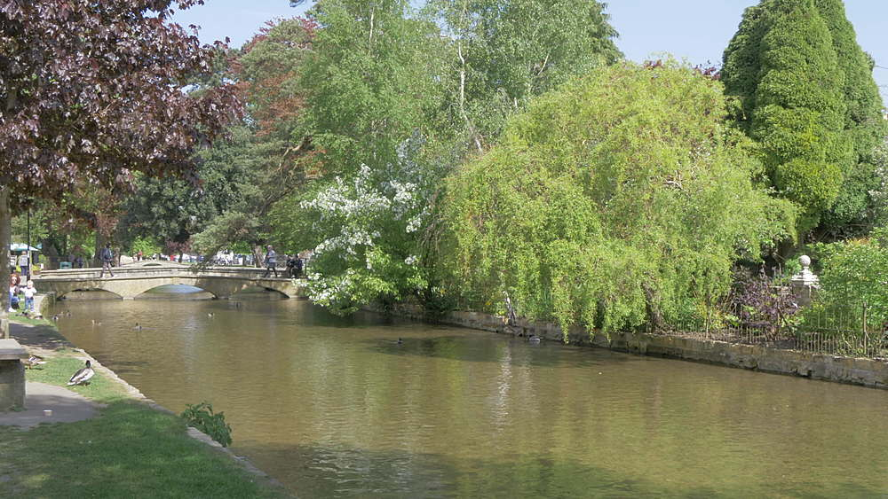 Bridges over River Windrush, Bourton on the Water, Cotswolds, Gloucestershire, England, United Kingdom, Europe