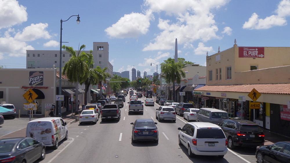 Travelling through Little Havana on 8th Street, Miami, Florida, USA - 844-14177