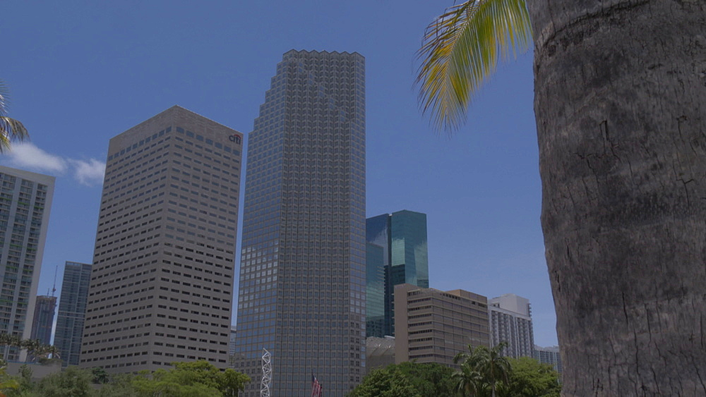 View of Downtown skyscrapers from Bayfront Park, Little Havana, Miami, Florida, USA - 844-14210