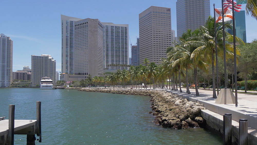 View of Downtown skyscrapers from Bayfront Park, Little Havana, Miami, Florida, USA - 844-14213