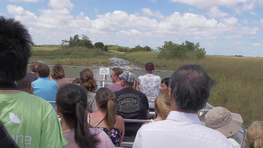 Travelling through Everglades National Park on airboat, Miami, Florida, USA - 844-14230