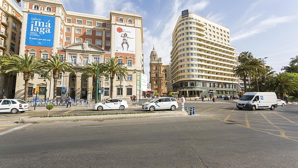 Moving time lapse of Plaza de la Marina, Málaga, Andelucia, Spain, Europe - 844-14268