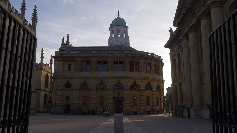 The Sheldonian Theatre, Oxford, Oxfordshire, England, United Kingdom, Europe - 844-14286