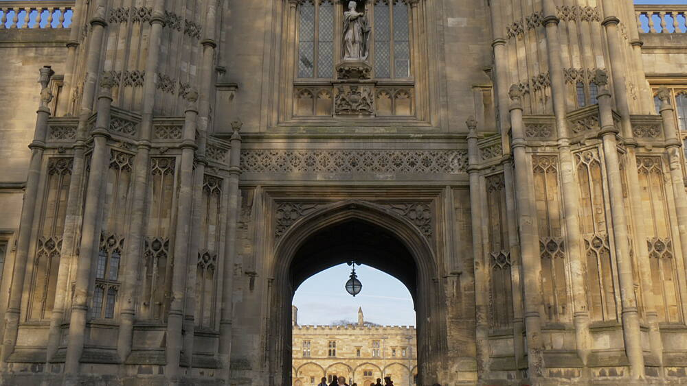 Tom Tower, bell tower designed by Christopher Wren, Oxford, Oxfordshire, England, United Kingdom, Europe - 844-14293