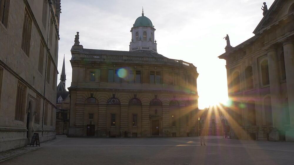 The Sheldonian Theatre, Oxford, Oxfordshire, England, United Kingdom, Europe