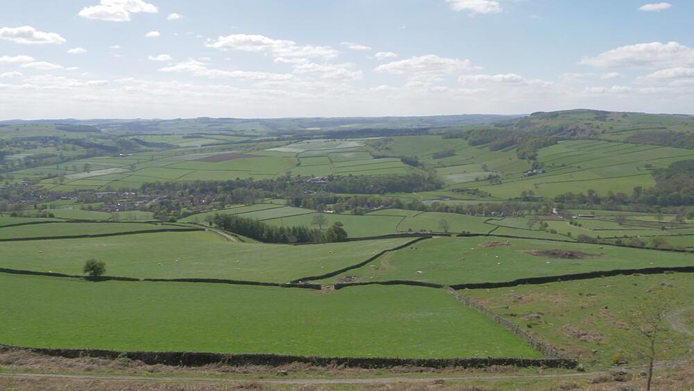 View from Baslow Edge, Baslow, Peak District National Park, Derbyshire, England, United Kingdom, Europe