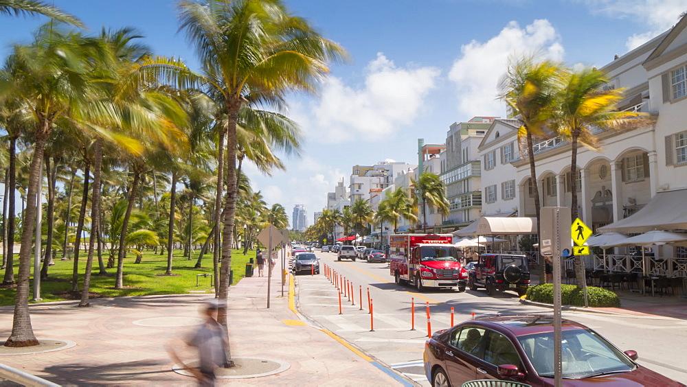 Timelapse of traffic on Ocean Drive, South Beach, Miami, Florida, USA - 844-14315