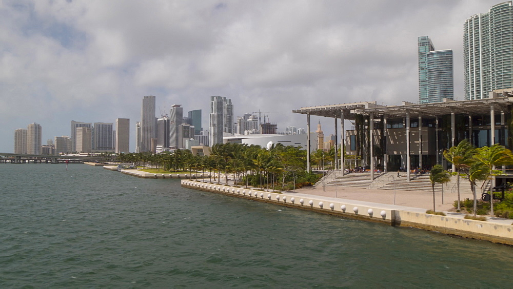 Timelapse of clouds over the Miami Arts museum and Downtown, Downtown Miami, Miami, Florida, USA - 844-14321