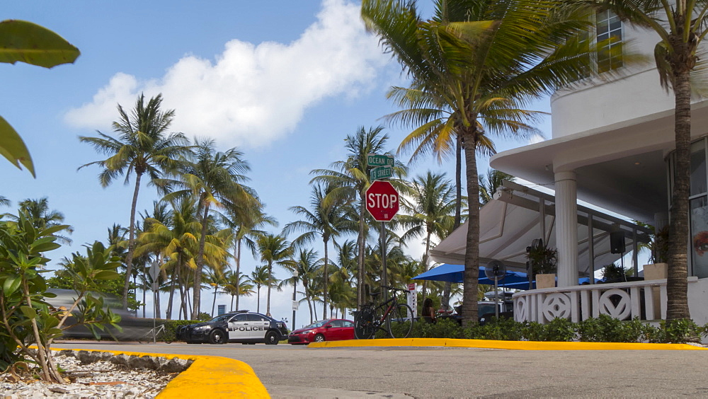 Timelapse of traffic on Ocean Drive and 13 street, South Beach, Miami, Florida, USA - 844-14326