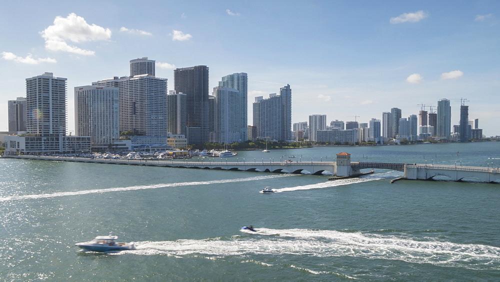 Timelapse from MacArthur Causeway and Downtown Miami, Downtown Miami, Miami, Florida, USA - 844-14328