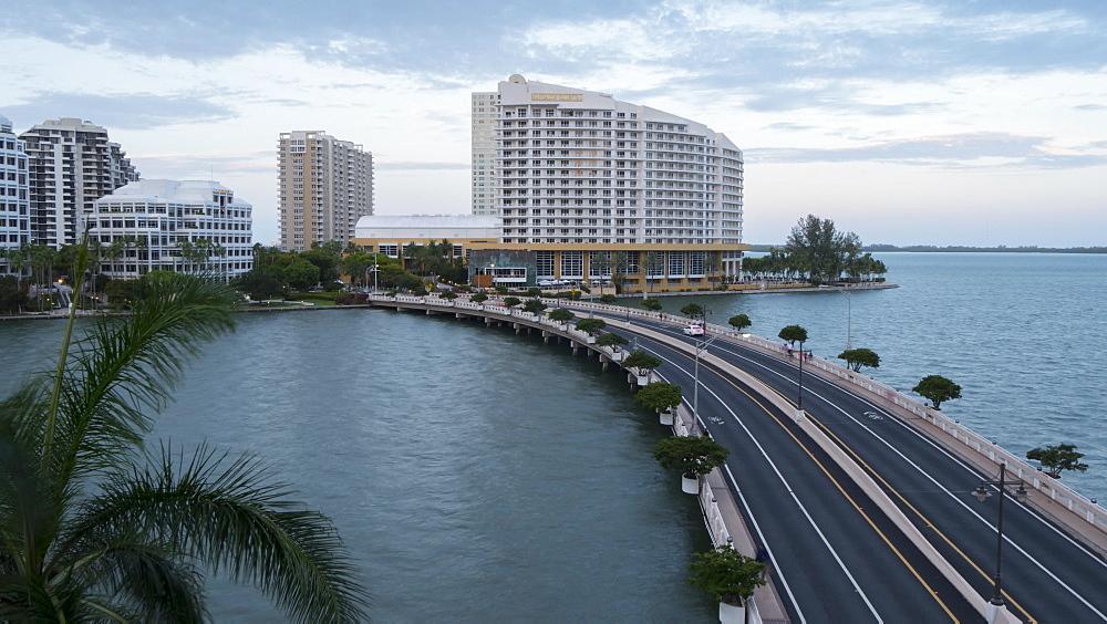 Timelapse of Brickell Key at dusk, South Beach, Miami, Florida, USA - 844-14333