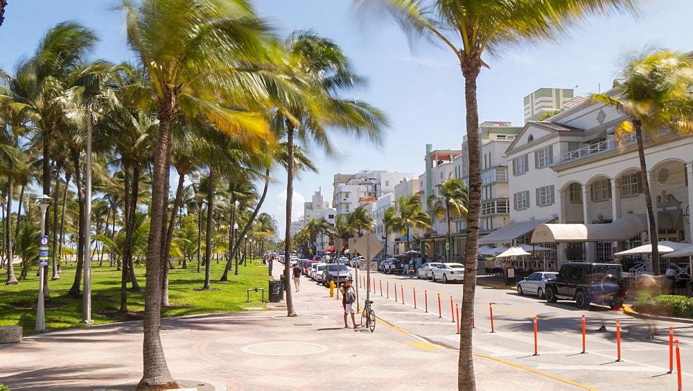 Timelapse of traffic on Ocean Drive, South Beach, Miami, Florida, USA - 844-14340