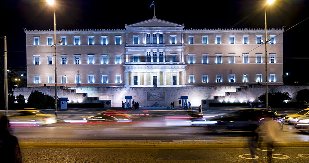 Time Lapse of traffic near Parliament, Athens, Greece, Europe - 844-14902